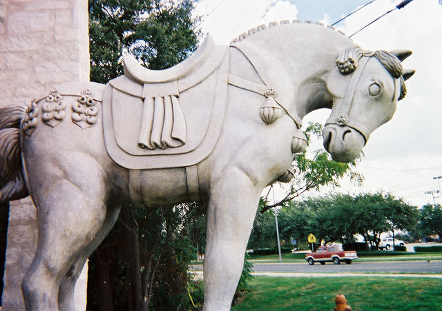 Custom fabrication of a life-sized horse sculpture